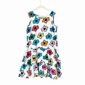 Hanna Andersson Rainbow Flower Tiered Dress